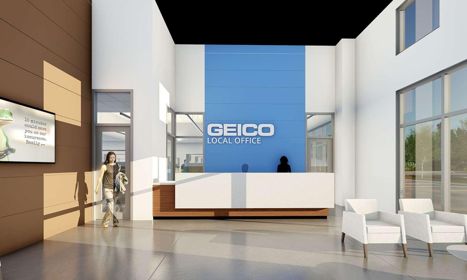 Geico Baton Rouge Office Lobby Interior