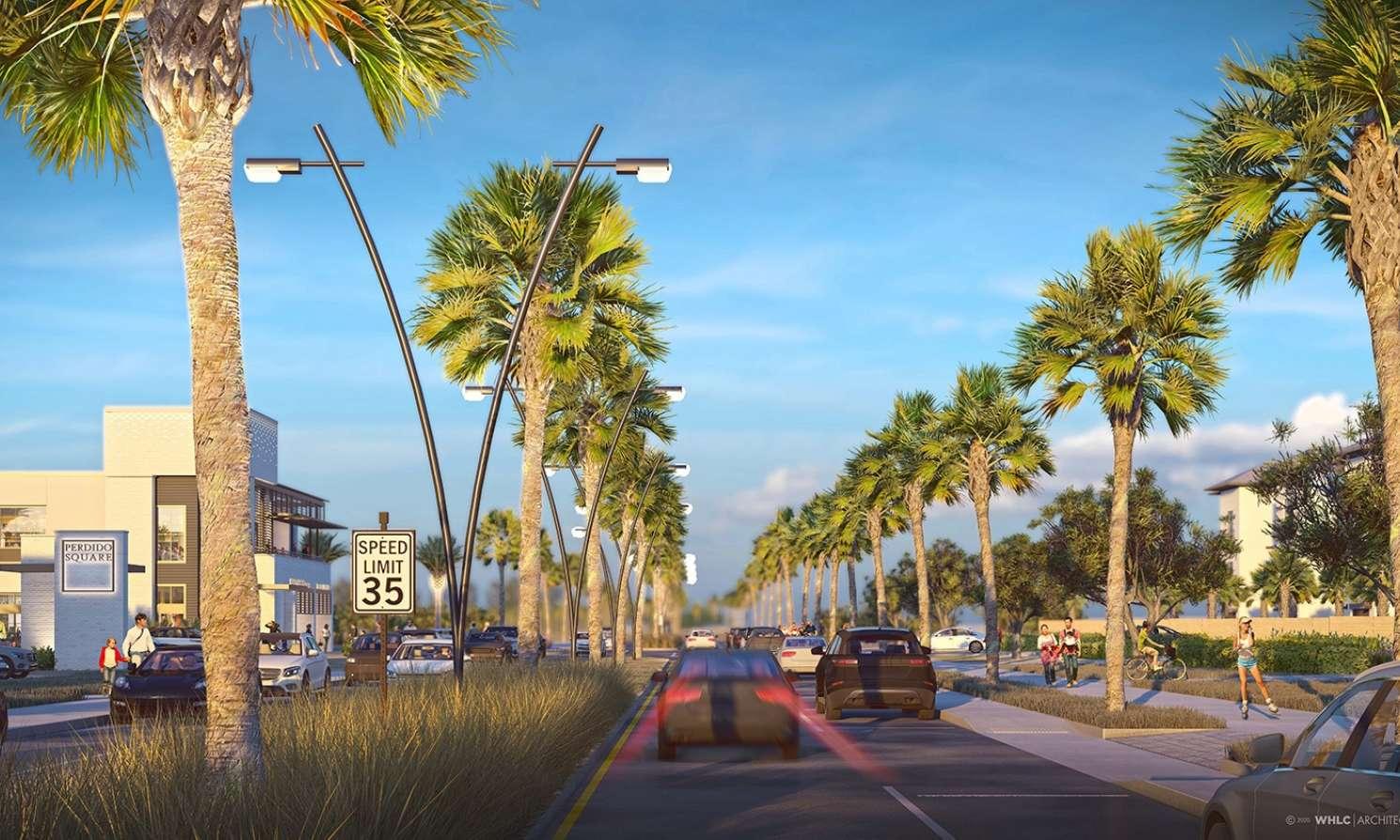 Perdido Town Center streetscape V1 7 F r ws